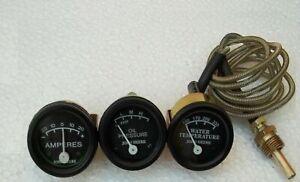 Tractor Oil Pressure Ammeter Temperature Gauge Set Replacement for John Deere
