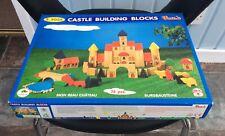 Voila large castle building blocks NEW wooden bricks set 75pcs 39x30cm S 503A