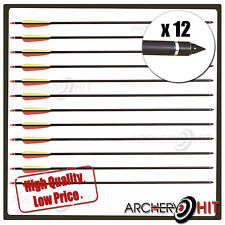 "12 x ALLOY/ALUMINIUM 31"" ARROWS FOR LONG BOWS, RECURVE BOWS AND COMPOUND BOWS"