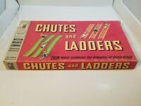 Vintage Chutes And Ladders Milton Bradley All Original Board Game 1956 4120-A