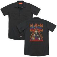 Def Leppard HYSTERIA TOUR 1987 Vintage Style Adult Dickies Work Shirt All Sizes