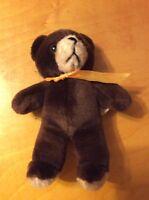 "VINTAGE DARK BROWN TEDDY BEAR ANIMAL FAIR STUFFED PLUSH TOY SITTING 14"" TALL T1"