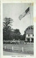 "Vintage  Post Cards c.1943 Illinois Grant  "" Retreat "" CAMP GRANT"