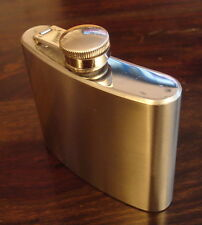 5 OZ. Stainless Steel Hip Flask Made in England