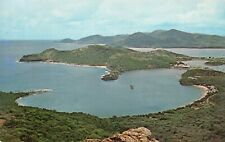 Antigua West Indies View of the Caribbean from a Mountain Vintage Postcard C10