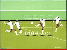 1351 BRAZIL 1974 WORLD CUP CHAMPIONSHIP, SOCCER FOOTBALL, MI# B34 RHM B-36, MNH
