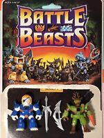 BATTLE BEASTS Pirate Lion #01 & Deer Stalker #02 Series 1 Beast Formers Takara