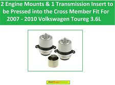 2 Engine Mounts &1 Transmission Insert Fit for 2007- 2010 Volkswagen Touareg 3.6