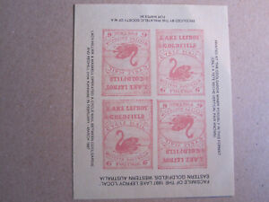 Western Australia - Lake Lefroy Goldfield Cycle Mail - FACSIMILE of 1897 Local