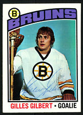 Gilles Gilbert Autographed Signed 1976-77 Topps Card #255 Boston Bruins 150200