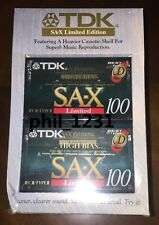new TDK SA-X LIMITED 100 min twin pack premium high bias Tape for Cassette deck