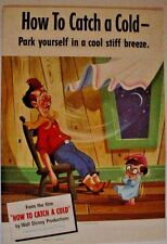 Original Kleenex 1951 Disney Ad Poster-How To Catch A Cold-WDP-Sit In A Breeze