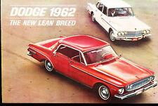 1962 Dodge Dart and Lancer 16-page Original Car Sales Brochure - GT Convertible