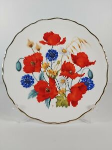 """Royal Albert Limited Edition """"Cornfield Poppies"""" Display Plate, 21cm"""