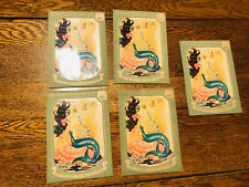 Antique Vtg Mermaid Decal Transfers The Meyercord Co. Lot Of 5  NOS Nautical Sea
