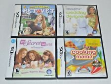 Paws & Claws: PET VET (Nintendo DS) + COOKING MAMA + WEDDING DESIGNER - LOT of 4