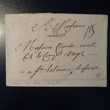 MARQUE POSTALE LETTRE COVER DE TOULOUSE 1764 L29