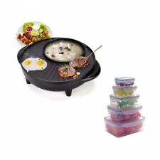 Keimavlock 10-Pc Airtight Food Storage with Korean Style 2 in 1 Barbecue Grill