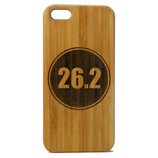 Marathon Runner Case for iPhone 6 6S Bamboo Wood Cover 26.2 Miles Running Run