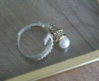 925 Sterling Silver Handmade Gemstone Turkish Pearl Ladies Ring Size Adj