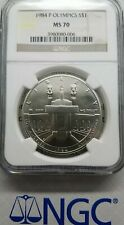 1984 P Olympics NGC MS70 Silver Commemorative $1 MS 70