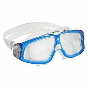 Aqua Sphere Seal 2.0 Unisex Swimming Goggles in Light Blue & White - Clear Lens