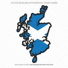 Scotland Scottish Map Flag Sticker - Car - Laptop - Macbook Notebook - 6402