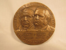 Antique Whitall Tatum Glass Co. New Jersey NJ Bronze Medallion 1836 - 1936