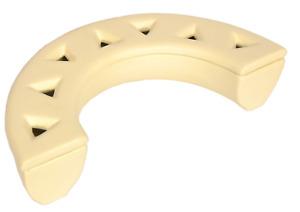 Raum Luftbefeuchter Halbkreis creme Verdunster aus Keramik für Kamin Ofen