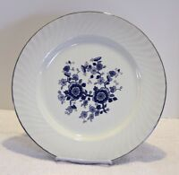 ENOCH WEDGWOOD ENGLAND ROYAL BLUE IRONSTONE 10 INCH DINNER PLATE Tunstall 351