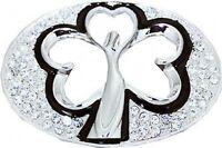 SHAMROCK Clover with Rhinestones Love Belt Buckle 171