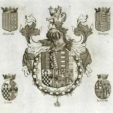 Blason Chevalier Toison d'or Sicile Fabricio Branciforte & Antoine Montada XVIIe