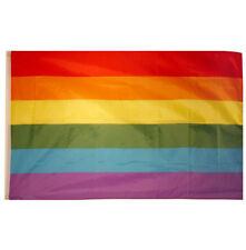 New Rainbow Gay Pride Flag 3ft x 2ft LGBT Festival Fancy Dress Party Accessory