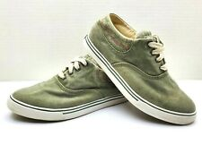 LL BEAN WOMEN SUNWASHED CANVAS LACE UP SHOES SIZE 7