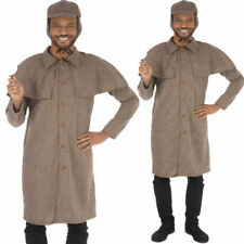Adult Costume Sherlock Holmes Mens Fancy Dress Detective Outfit TV Victorian