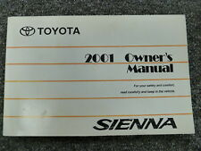 2001 Toyota Sienna Minivan Owner Owner's Manual User Guide CE LE XLE 3.0L V6