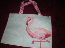 HAPPY SUMMER TROPICAL PINK FLAMINGO RECYCLE SHOPPING TOTE, GIFT, PARTY BAG