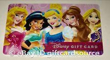 "DISNEY WORLD/STORE GIFT CARD ""PRINCESS"" NO VALUE DISNEYLAND NEW PRINCESSES"