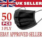 Face Mask x 50 Protective Covering Mouth Masks UK 5/10/20/30/50
