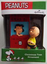 * Lucy  Charlie Brown * Peanuts 2016  Ornament  Hallmark New In Box