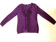 Sky Designs Soft Viscose knit Purple Ruffle long sleeve Jumper Top 2 - 12-14