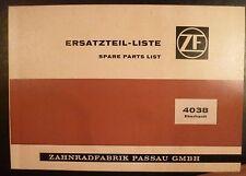 ZF Triebwerk für Grabenfräse 4038 Eberhardt Ersatzteilliste