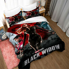 Black Widow Design Bedding Set 3PCS Duvet Cover Pillowcase UK Single Double King