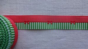 """Webband Ripsband """" Streifen - Punkte - Schleifen  """"  1  Meter 25 mm breit"""