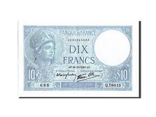 Billets, France, 10 Francs, 10 F 1916-1942 ''Minerve'', 1940 #210255