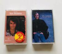 2 Neil Diamond Cassettes Tennessee Moon / Moods VINTAGE TAPES #buyfromthebush