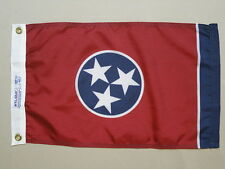"Tennessee State Indoor Outdoor Dyed Nylon Boat Flag Grommets 12"" X 18"""