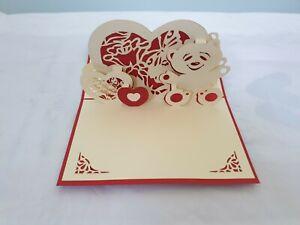 3d Popup Bear And Heart Card