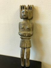 New listing Guatemala Carved Wood Figural Female Slingshot, ca. 20th century, Free Shipping