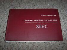 1964-1965 Porsche 356C Parts Catalog Manual Supplement Convertilbe Cabriolet